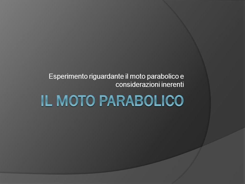 Esperimento riguardante il moto parabolico e considerazioni inerenti
