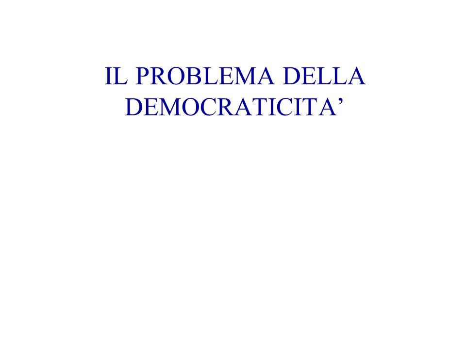 IL PROBLEMA DELLA DEMOCRATICITA