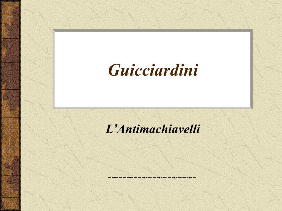 Guicciardini L Antimachiavelli