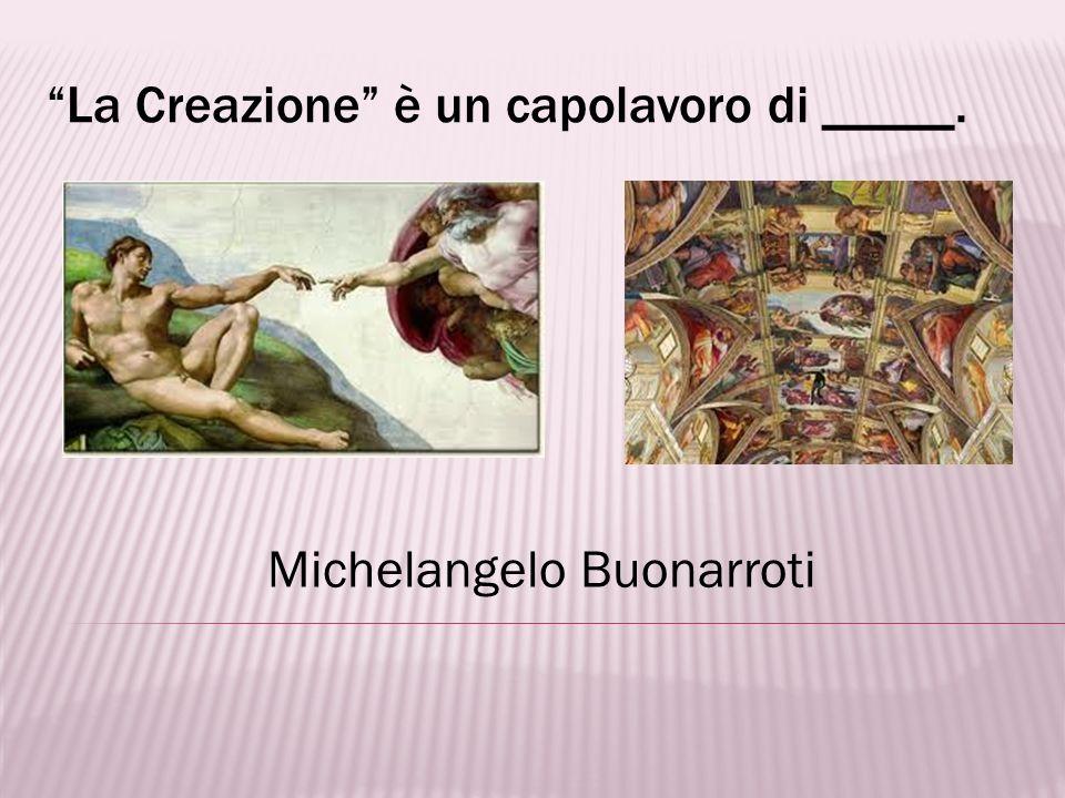 Per vedere la famosa cupola di Michelangelo, andiamo alla città di _____. Roma