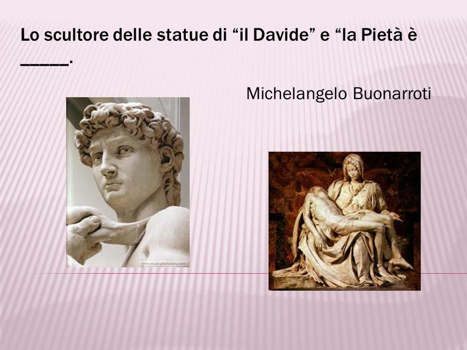 Nel Museo dellAccademia delle Belle Arti a Firenze si trova ______. il Davide