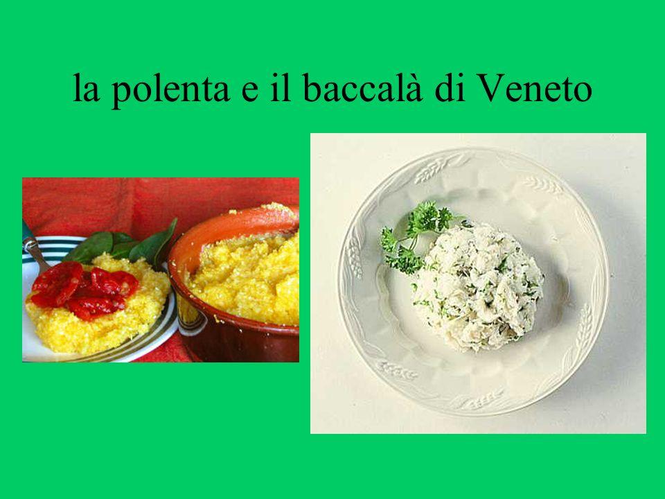 la polenta e il baccalà di Veneto