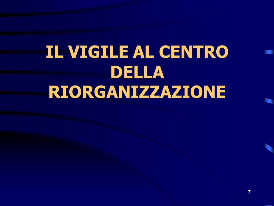 7 IL VIGILE AL CENTRO DELLA RIORGANIZZAZIONE