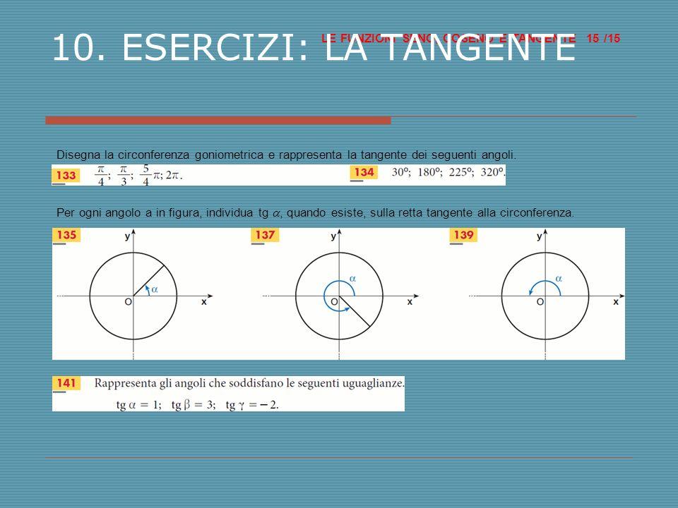LE FUNZIONI SENO, COSENO E TANGENTE /15 15 10.