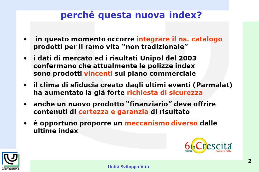 Unità Sviluppo Vita 13 6inCrescita segue la crescita dei mercati (rend.