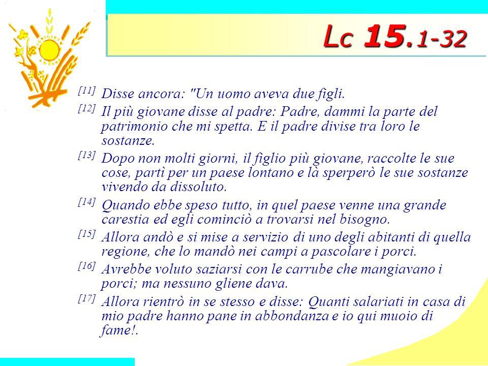 L c 15. 1-32 [11] Disse ancora: