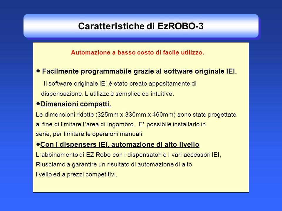 Facilmente programmabile grazie al software originale IEI. Il software originale IEI è stato creato appositamente di dispensazione. Lutilizzo è sempli
