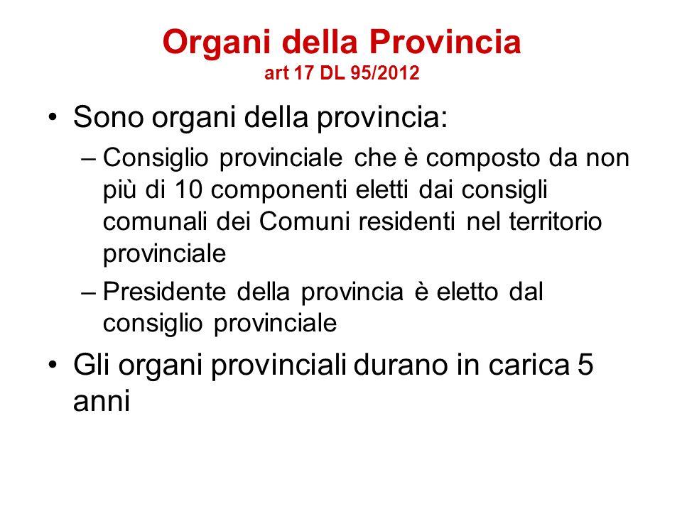 Funzioni delle province: –Pianificazione territoriale provinciale di coordinamento nonché tutela e valorizzazione dellambiente; –Pianificazione dei se