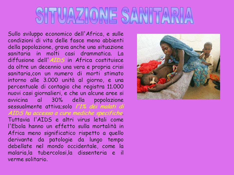In Africa sono presenti tre tipi di malattie: 1) Infettive, dovute allazione di batteri e virus patogeni.
