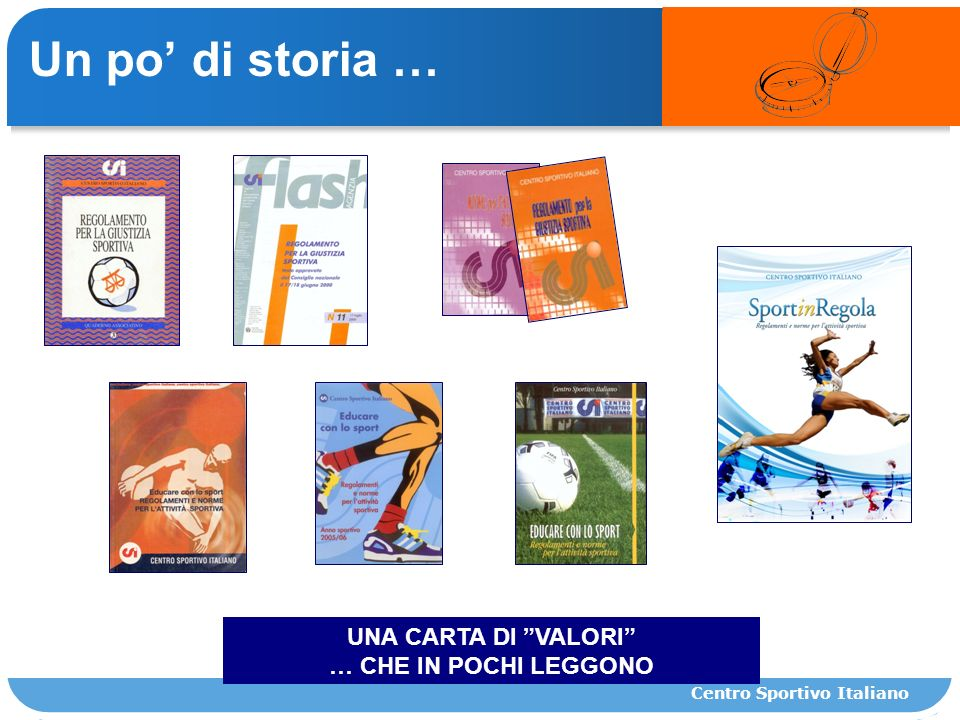 Un po di storia … UNA CARTA DI VALORI … CHE IN POCHI LEGGONO Centro Sportivo Italiano