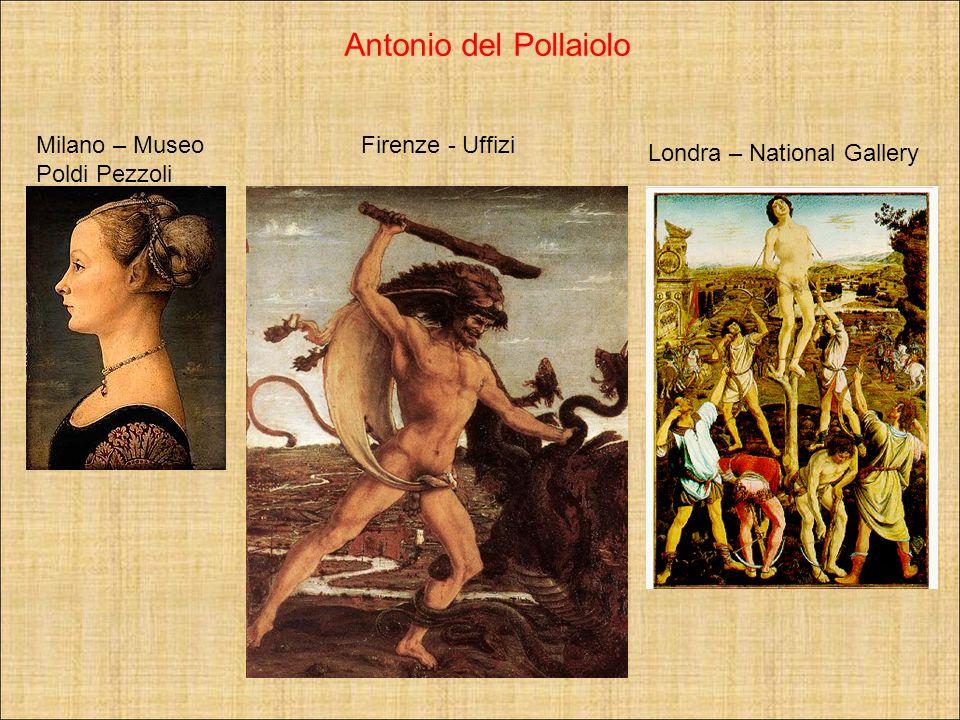 Milano – Museo Poldi Pezzoli Firenze - Uffizi Londra – National Gallery Antonio del Pollaiolo