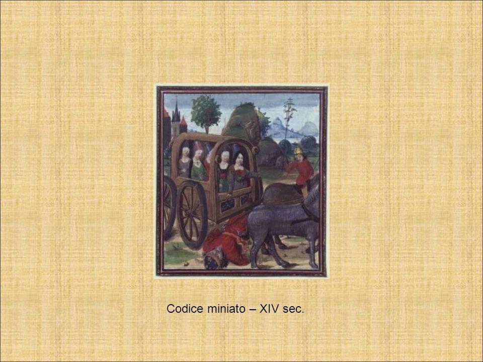 Codice miniato – XIV sec.