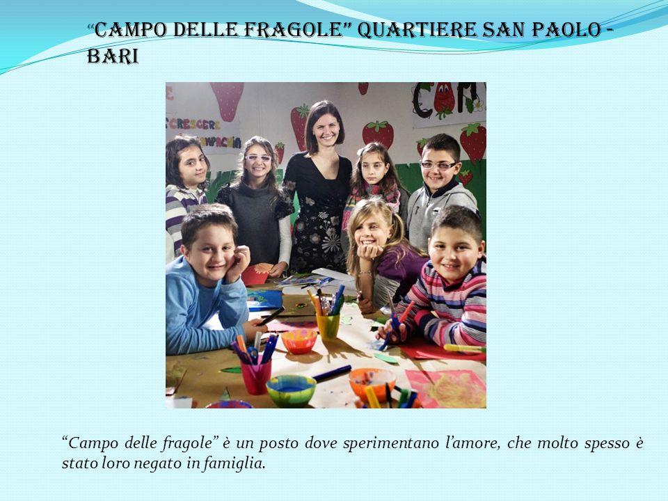 Campo delle fragole Quartiere San Paolo - Bari Campo delle fragole è un posto dove sperimentano lamore, che molto spesso è stato loro negato in famiglia.