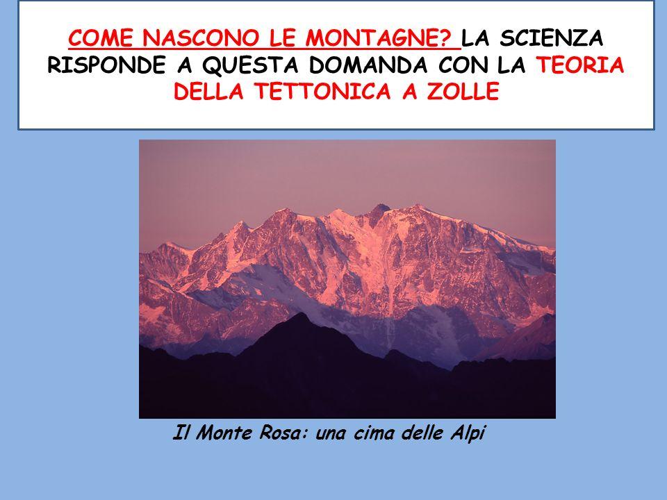 Il Monte Rosa: una cima delle Alpi COME NASCONO LE MONTAGNE? LA SCIENZA RISPONDE A QUESTA DOMANDA CON LA TEORIA DELLA TETTONICA A ZOLLE