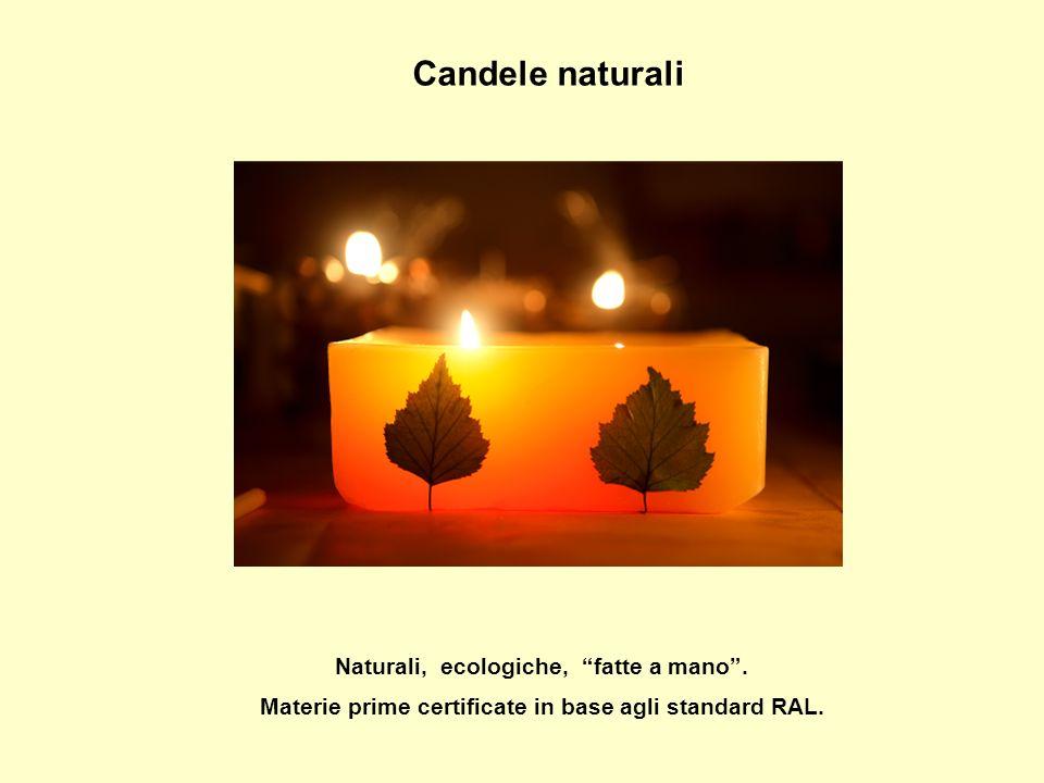 Candele naturali Naturali, ecologiche, fatte a mano.