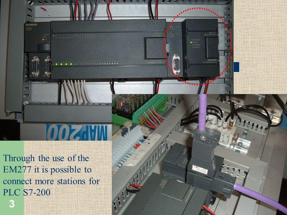 4 L S7-200 con l impiego del modulo EM277 può essere inserito come slave in una rete PROFIBUS DP The S7-200 can be incorporated as slave in a PROFIBUS DP network with the EM277 module.
