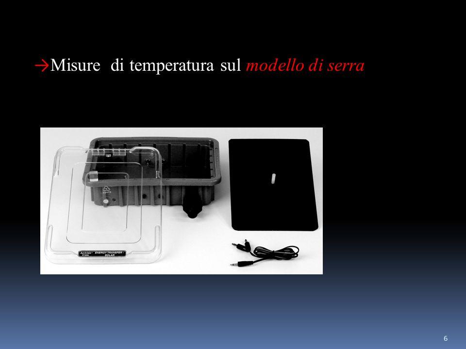 6 Misure di temperatura sul modello di serra