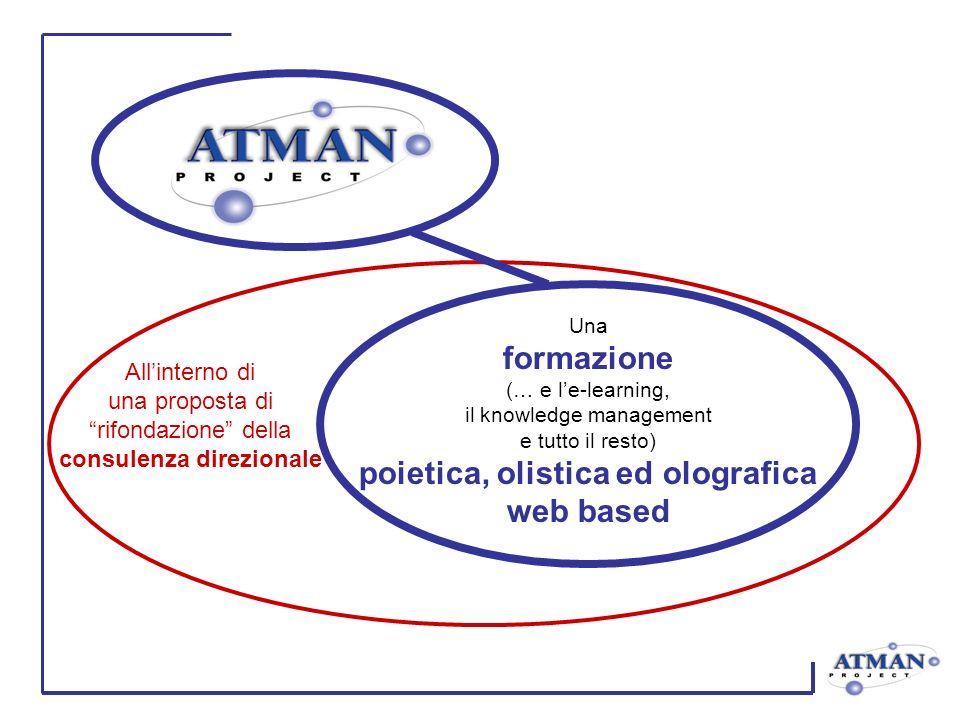 Una formazione (… e le-learning, il knowledge management e tutto il resto) poietica, olistica ed olografica web based Allinterno di una proposta di rifondazione della consulenza direzionale