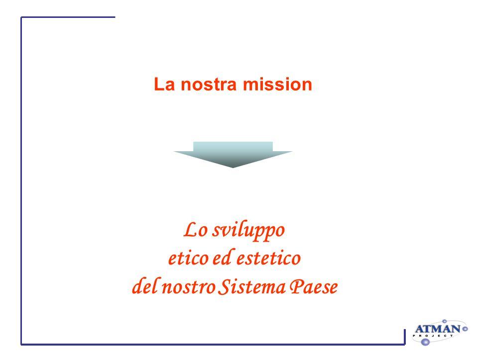 Lo sviluppo etico ed estetico del nostro Sistema Paese La nostra mission