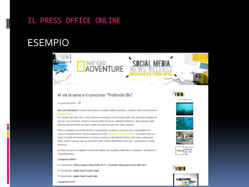 ESEMPIO IL PRESS OFFICE ONLINE
