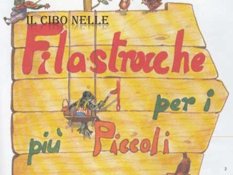 Per rappresentare il cibo nella letteratura, ho scelto filastrocche e poesie per bambini.