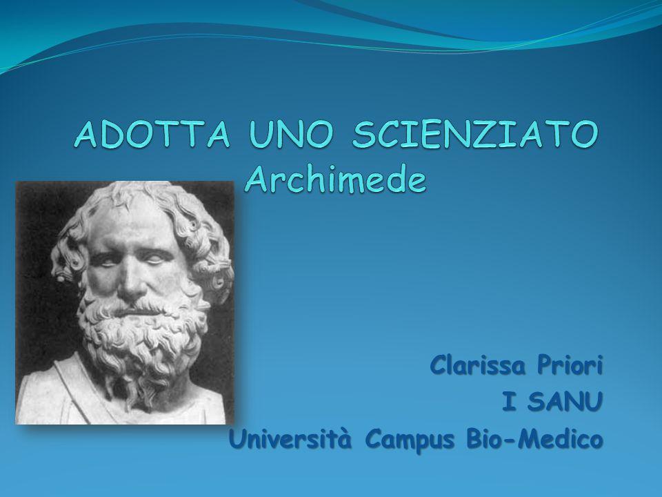 Clarissa Priori I SANU Università Campus Bio-Medico