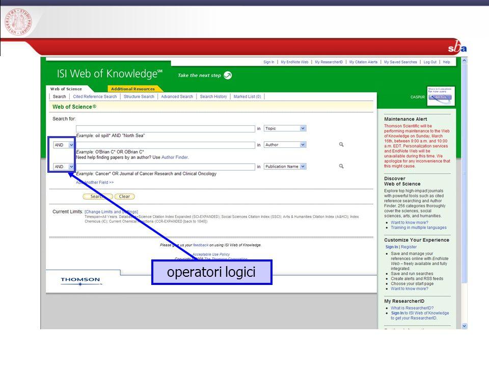 27/04/2009 operatori logici