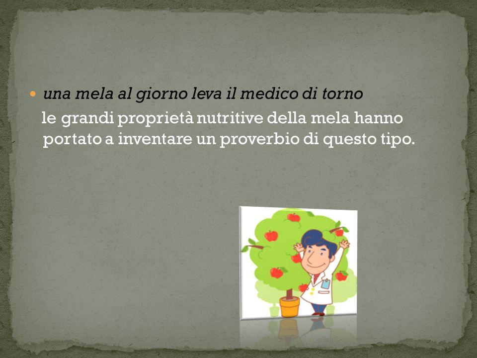 una mela al giorno leva il medico di torno le grandi proprietà nutritive della mela hanno portato a inventare un proverbio di questo tipo.