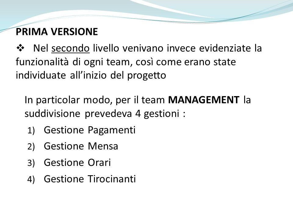 PRIMA VERSIONE - Team Management
