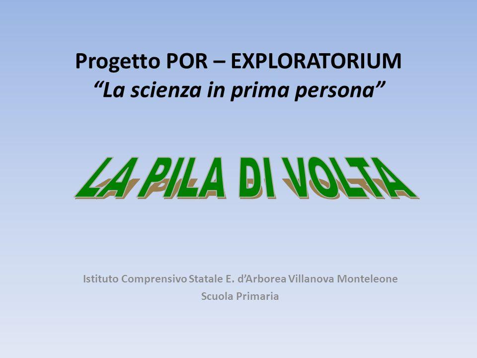 Progetto POR – EXPLORATORIUM La scienza in prima persona Istituto Comprensivo Statale E. dArborea Villanova Monteleone Scuola Primaria