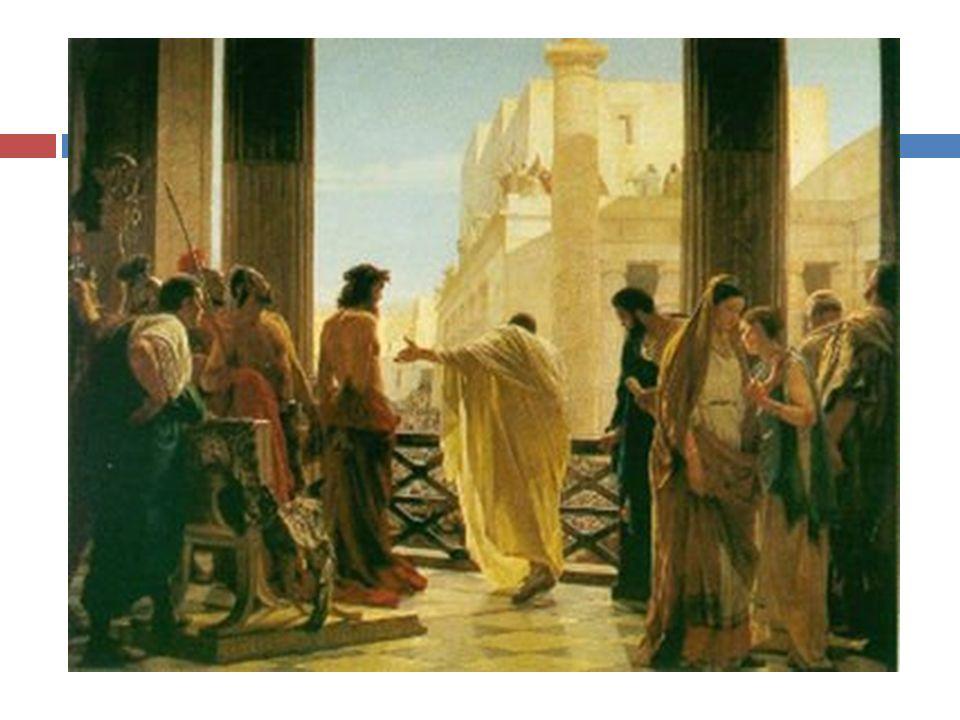 Le autorità giudaiche (il Sinedrio) lo fecero arrestare a Gerusalemme e lo accusarono di fronte a Ponzio Pilato di disturbo dellordine pubblico e istigazione alla sommossa contro lImperatore romano.