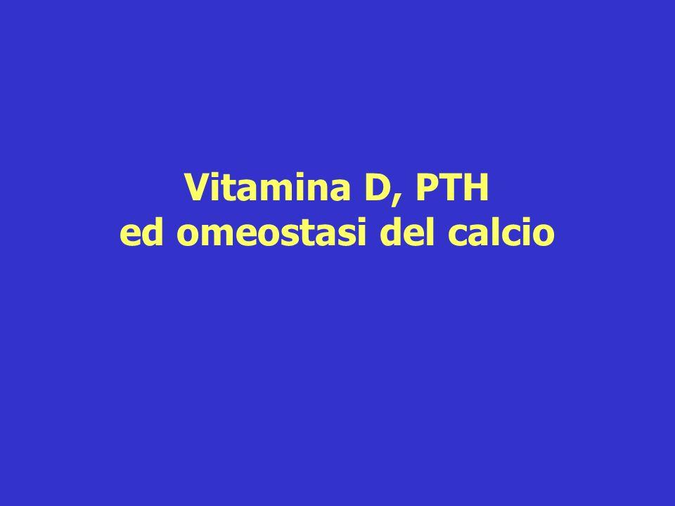 Vitamina D, PTH ed omeostasi del calcio