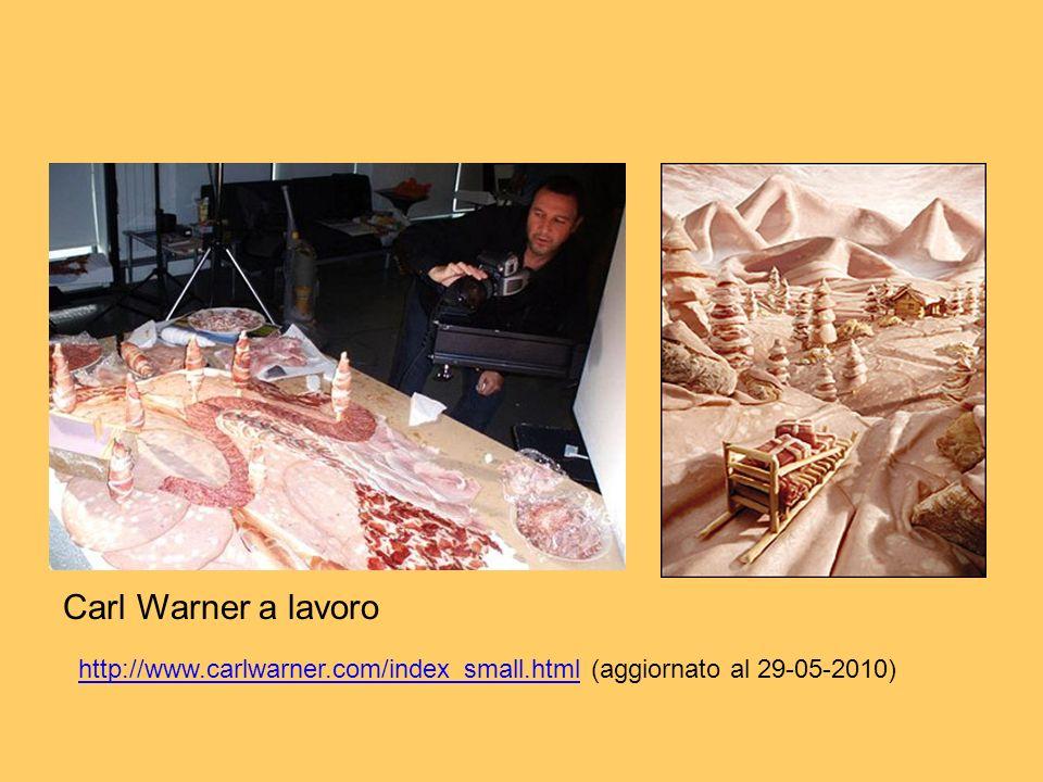 Carl Warner' Carl Warner a lavoro http://www.carlwarner.com/index_small.htmlhttp://www.carlwarner.com/index_small.html (aggiornato al 29-05-2010)