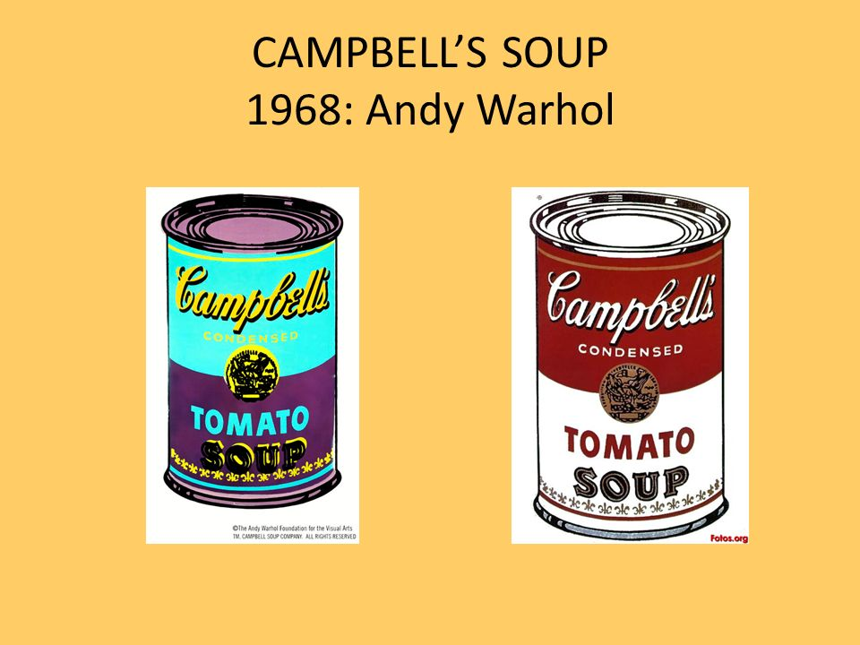 CAMPBELLS SOUP 1968: Andy Warhol