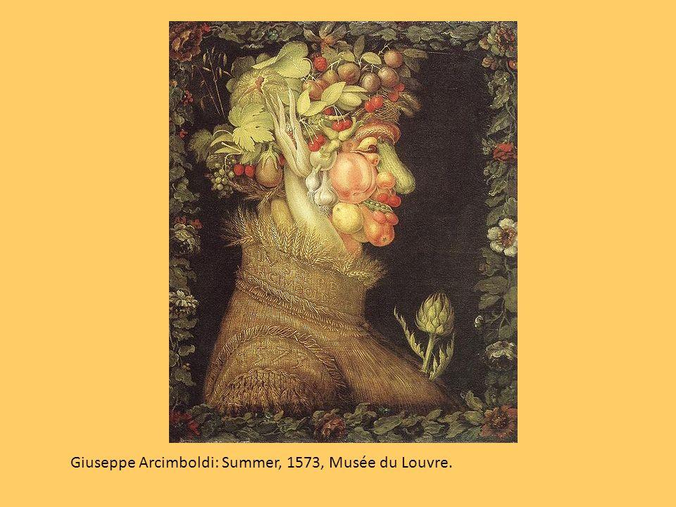 Giuseppe Arcimboldi, grande pittore italiano (1527 - 1593) realizza ritratti combinando elementi naturali su fattezze umane.