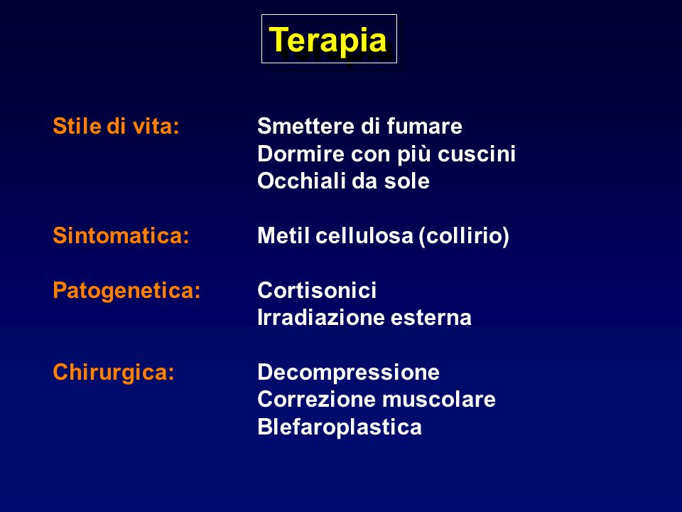 Tireotossicosi: Eziologia Aumentata sintesi Morbo di Basedow Gozzo multinodulare tossico Adenoma tossico Jod-Basedow Tumore trofoblastico Aumentata produzione di TSH Senza aumentata sintesi Tireotossicosi factizia Tiroidite subacuta Tiroidite subacuta silente Tiroidite post-partum Tessuto tiroideo ectopico (struma ovarii, cancro tiroideo)