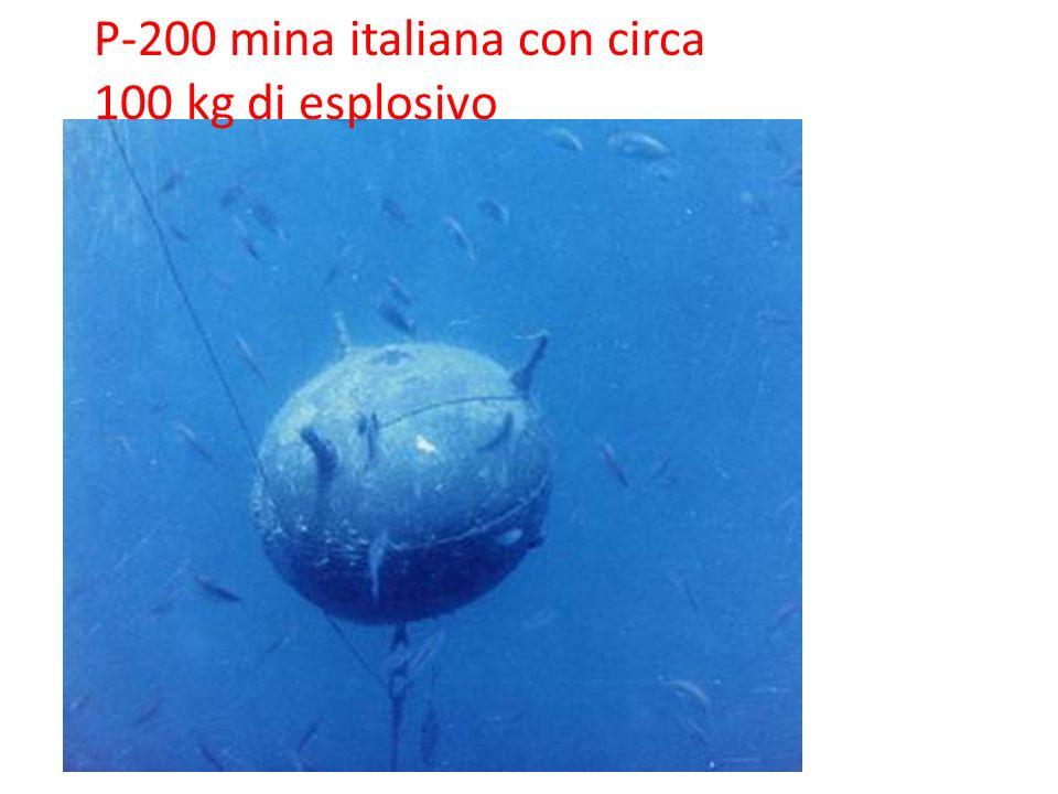 P-200 mina italiana con circa 100 kg di esplosivo