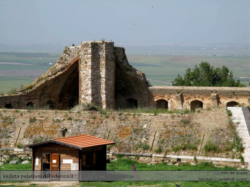 Veduta palatium di Federico II Foto del gruppo Salviamo il castello di Lucera