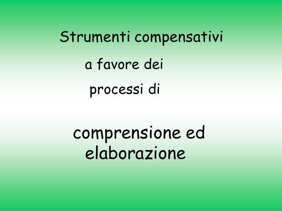 Strumenti compensativi a favore dei processi di comprensione ed elaborazione