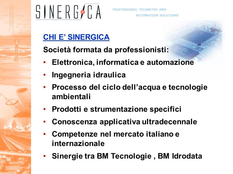 PROFESSIONAL TELEMETRY AND AUTOMATION SOLUTIONS Le nostre referenze Datalogging e telecontrollo: Consorzio Venezia Nuova – Mose (VE) Soc.Autostrade S.M.A.T.