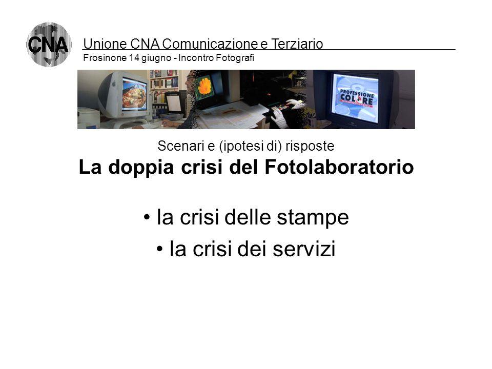 Unione CNA Comunicazione e Terziario Frosinone 14 giugno - Incontro Fotografi Scenari e (ipotesi di) risposte Le nuove generazioni di fotografi: tecno