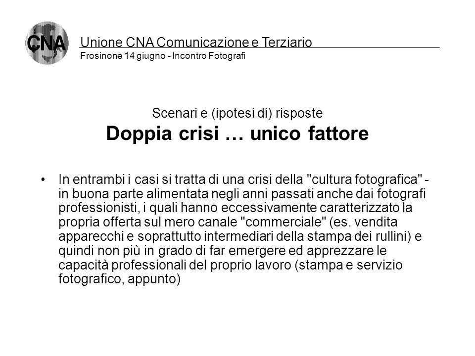 Unione CNA Comunicazione e Terziario Frosinone 14 giugno - Incontro Fotografi Scenari e (ipotesi di) risposte La crisi dei servizi La diffusione di ap
