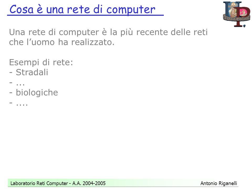 Cosa è una rete di computer Laboratorio Reti Computer - A.A.