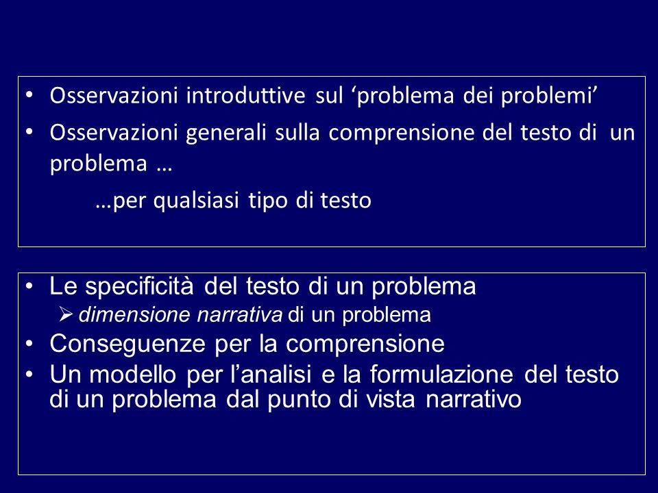PROBLEMI AUTOPOSTI PROBLEMI ETEROPOSTI 1.Non cè bisogno di formulare il problema 1.