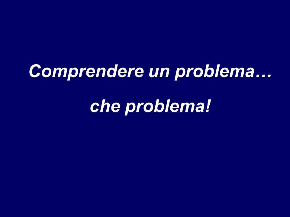 Comprendere un problema… che problema!