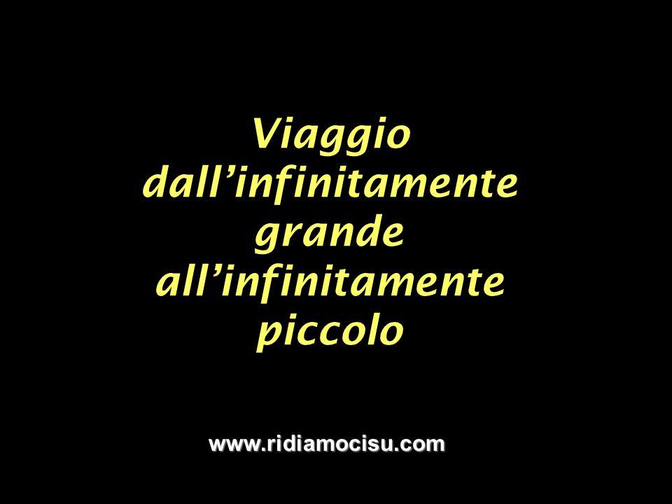 Viaggio dallinfinitamente grande allinfinitamente piccolo www.ridiamocisu.com