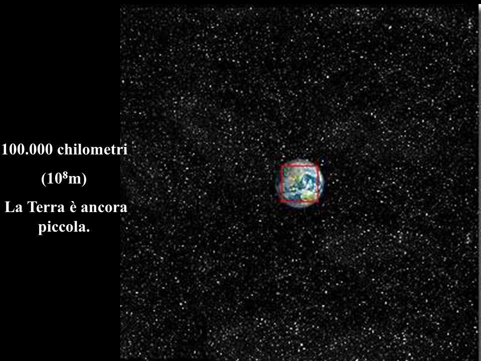 100.000 chilometri (10 8 m) La Terra è ancora piccola.