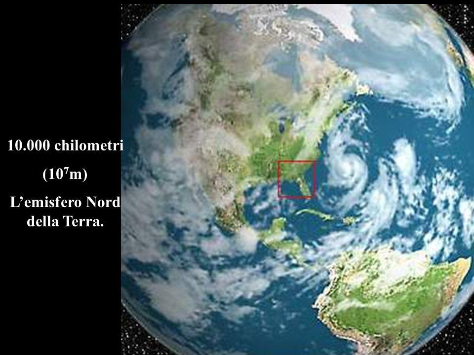 10.000 chilometri (10 7 m) Lemisfero Nord della Terra.