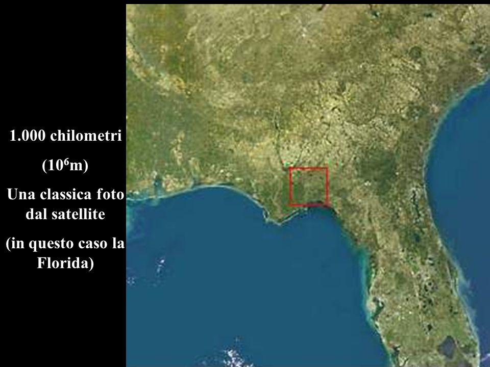1.000 chilometri (10 6 m) Una classica foto dal satellite (in questo caso la Florida)