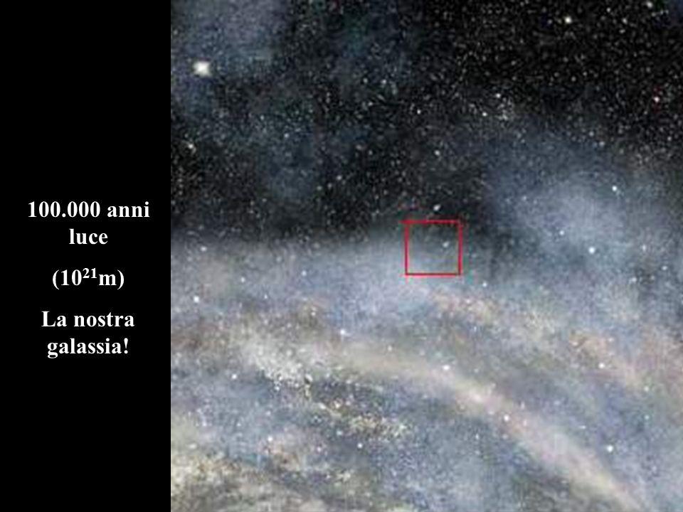 100.000 anni luce (10 21 m) La nostra galassia!
